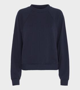 Blanche - Hella Oversize Deco Sweatshirt Navy
