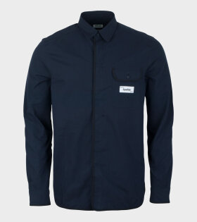 Kenzo - Curved Collar Casual Shirt Navy