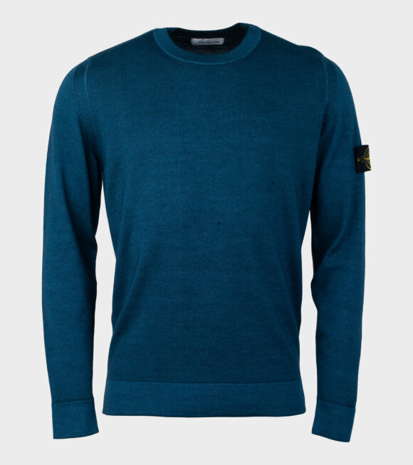 Stone Island - Thin Knit Sweater Blue