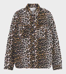 Ganni - Print Denim Jacket Leopard