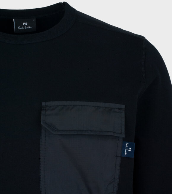 Paul Smith - Mens Pocket Sweatshirt Black