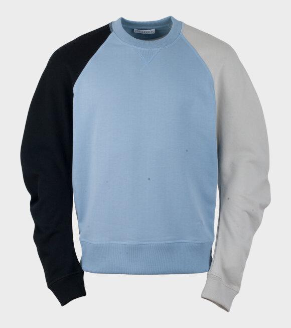 JW Anderson - Colourblock Sweatshirt Blue