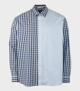 JW Anderson - Gingham Patchwork Shirt Blue