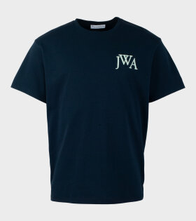 JW Anderson - Embroidery Logo T-Shirt Navy