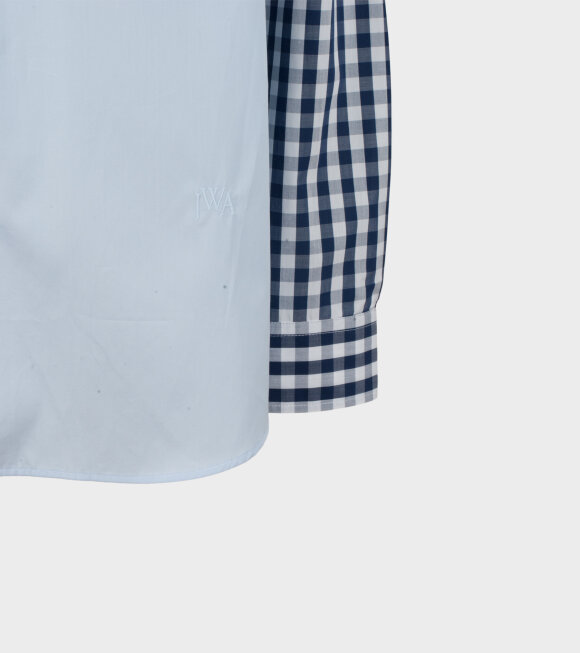 JW Anderson - Gingham Patchwork Shirt Blue