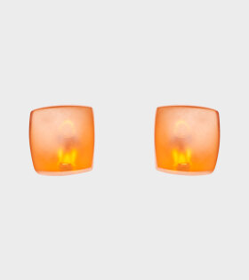 Monies - Irene Earclips Orange Resin