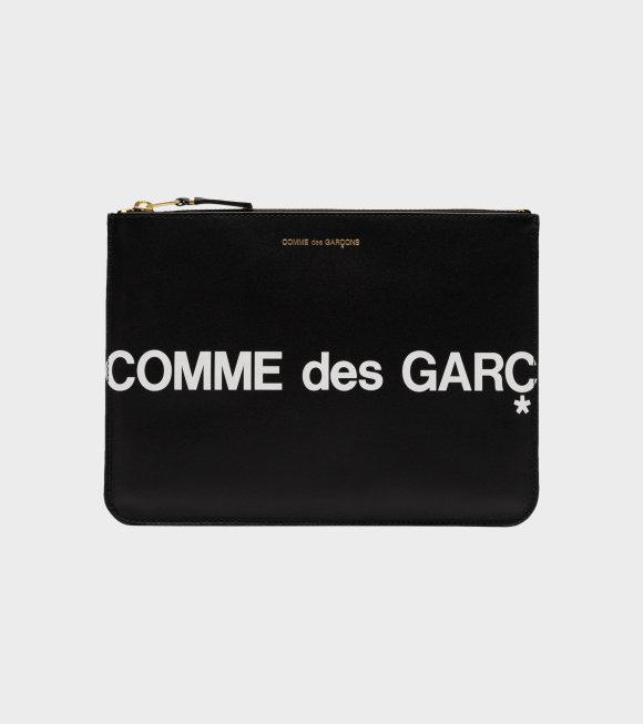 Comme des Garcons Wallet - Clutch Huge Logo Black