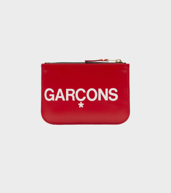 Comme des Garcons Wallet - Small Doc Huge Logo Red