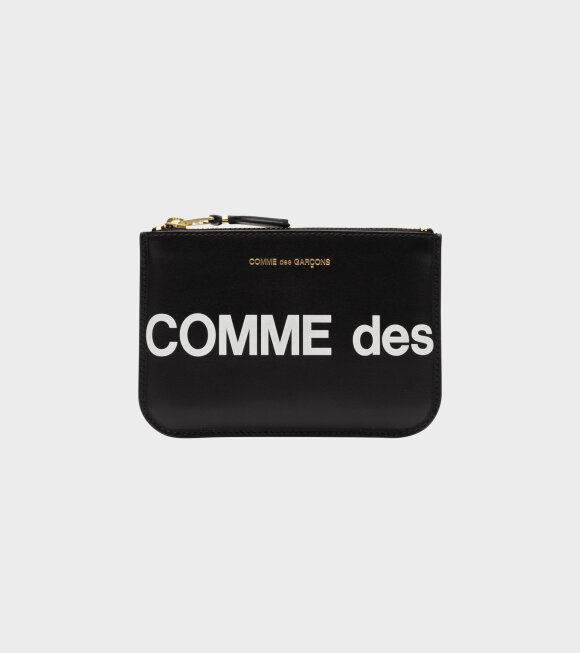 Comme des Garcons Wallet - Small Doc Huge Logo Black