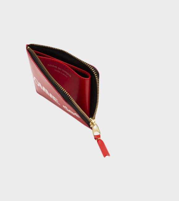 Comme des Garcons Wallet - Wallet Huge Logo Red