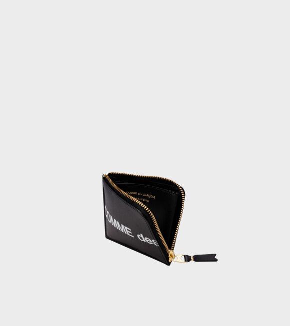 Comme des Garcons Wallet - Wallet Huge Logo Black