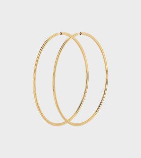 Maria Black - Sunset Hoop Earrings 70 Gold