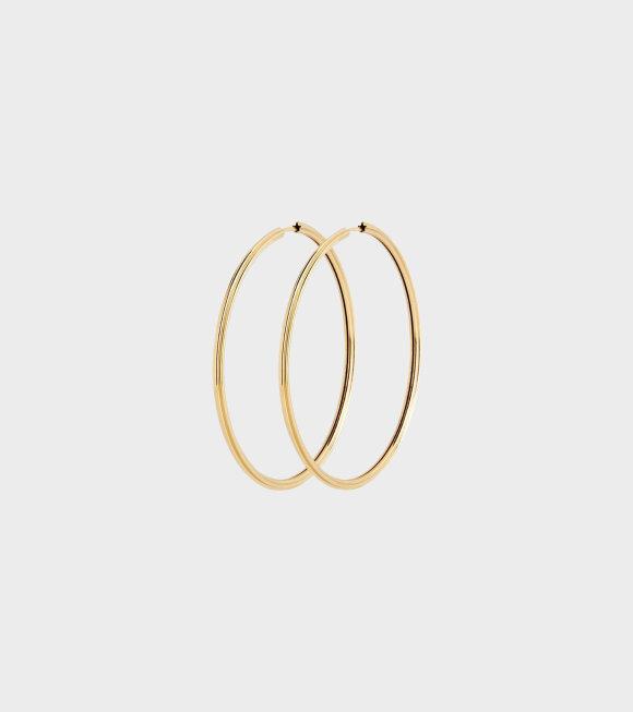 Maria Black - Sunset Hoop Earrings 50 Gold