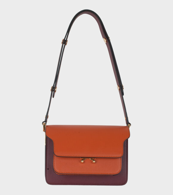 Marni - Mini Trunk Bag Brown/Bordeaux