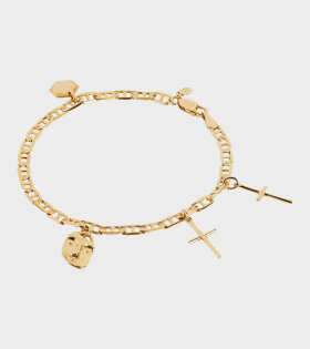 Maria Black - Friend Charm Bracelet Small Gold