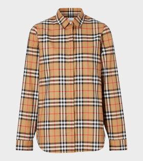 Vintage Check Shirt Brown
