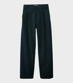 Acne Studios Pleated Trousers Forest Green - dr. Adams