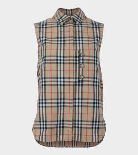 Vintage Check Shirt Palilia Brown