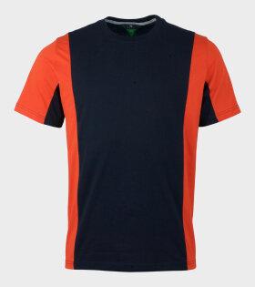 Paul Smith Panel T-shirt Navy/Orange - dr. Adams