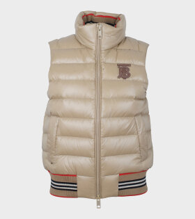 Burberry - Hessle Puffer Gilet Honey