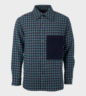 Acne Studios Relaxed Overshirt Lilac/Mint - dr. Adams