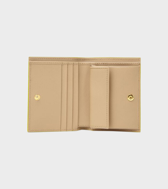 Marni - Bi-fold Wallet in Orange/Beige/Black