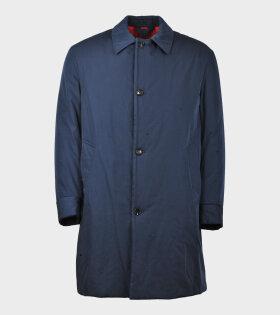 Marni Nylon Twill Coat Blue - dr. Adams