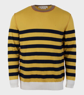 Marni Two Striped Knit Sweater Yellow - dr. Adams