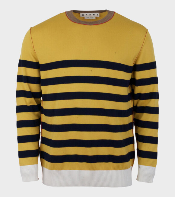 Marni - Two Striped Knit Sweater Yellow