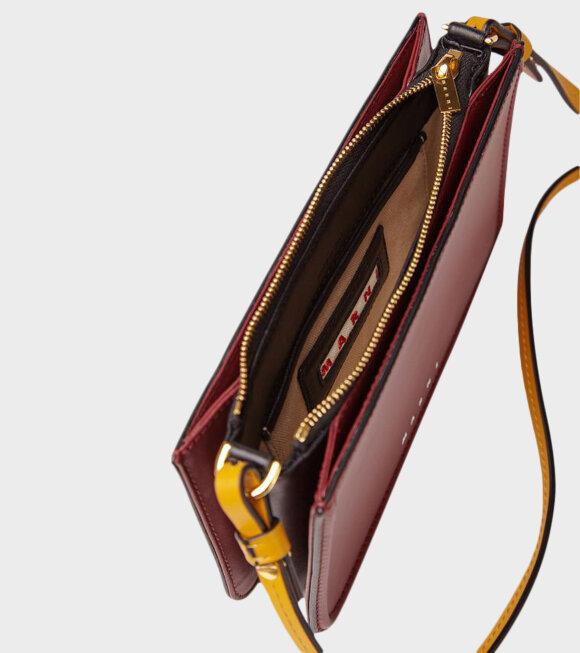 Marni - Leather Clutch Burgundy