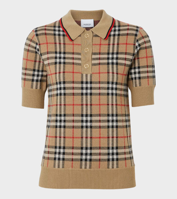 Burberry - Vintage Check Polo Shirt Archive Beige