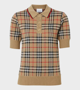 Vintage Check Polo Shirt Archive Beige