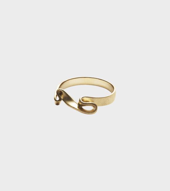 Trine Tuxen - Ribbon Ring I Goldplated