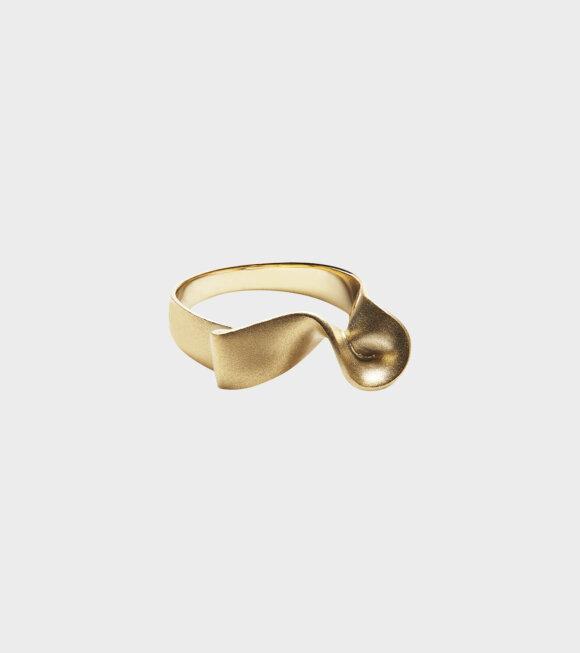 Trine Tuxen - Ribbon Ring II Goldplated
