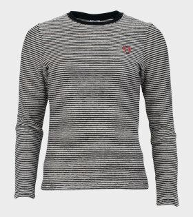 Leonie Striped T-shirt Black/White