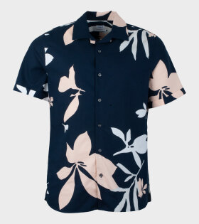 Filippa K - Don Sandhamn Print Shirt Blue