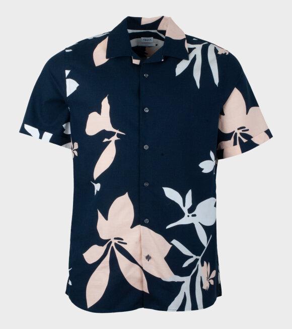 Filippa K - Don Sandhamn Print Shirt Blue
