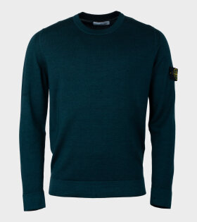Stone Island Basic Knit Sweater Green - dr. Adams