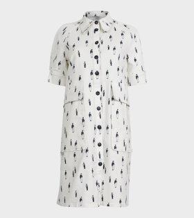 Baum und Pferdgarten - Amanda Denim Dress White Print