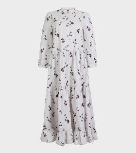 Baum und Pferdgarten - Alexandrina Dress White/Cherry print
