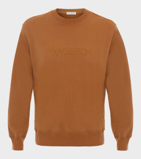 JW Anderson - Embroidery Logo Sweatshirt Brown