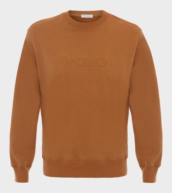 JW Anderson - Embroidery Logo Sweatshirt Brown