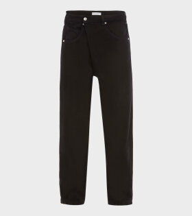 JW Anderson - Fold Front Jeans Black