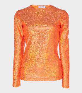Saya Blouse Orange Shimmer