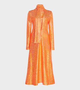 Yasmin Dress Orange Shimmer