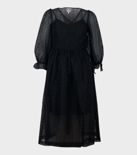 Trinity Puff Sleeve Dress Black
