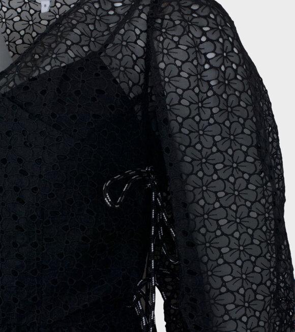 Shrimps - Trinity Puff Sleeve Dress Black