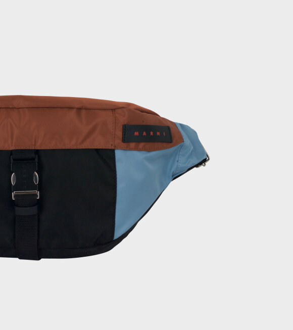 Marni - Bum Bag Blue/Brown/Black