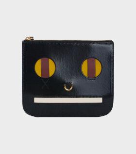 Emoji Clutch Black/Brown