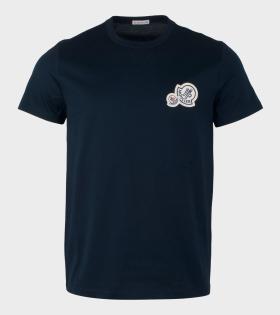 Moncler Maglia T-shirt Navy Blue - dr. Adams